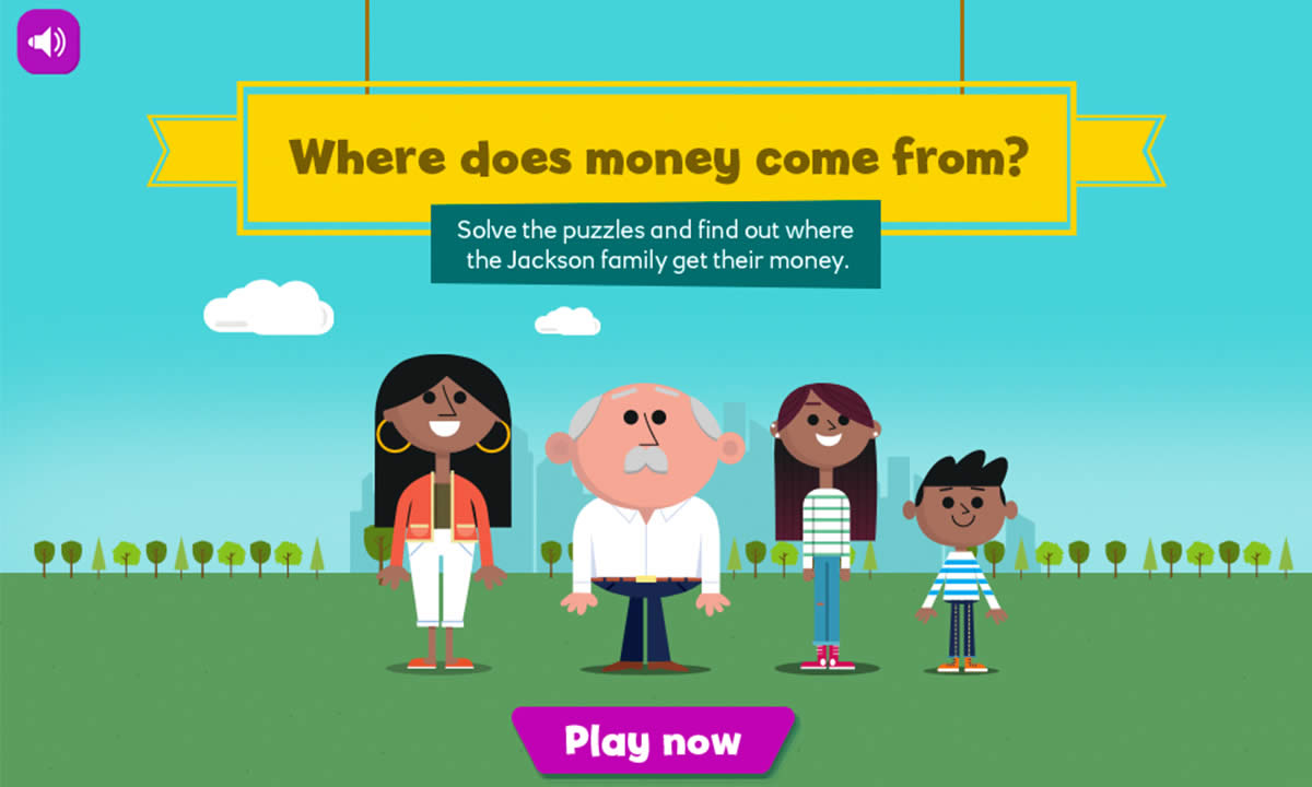 Interactive resource for Where does money come from?