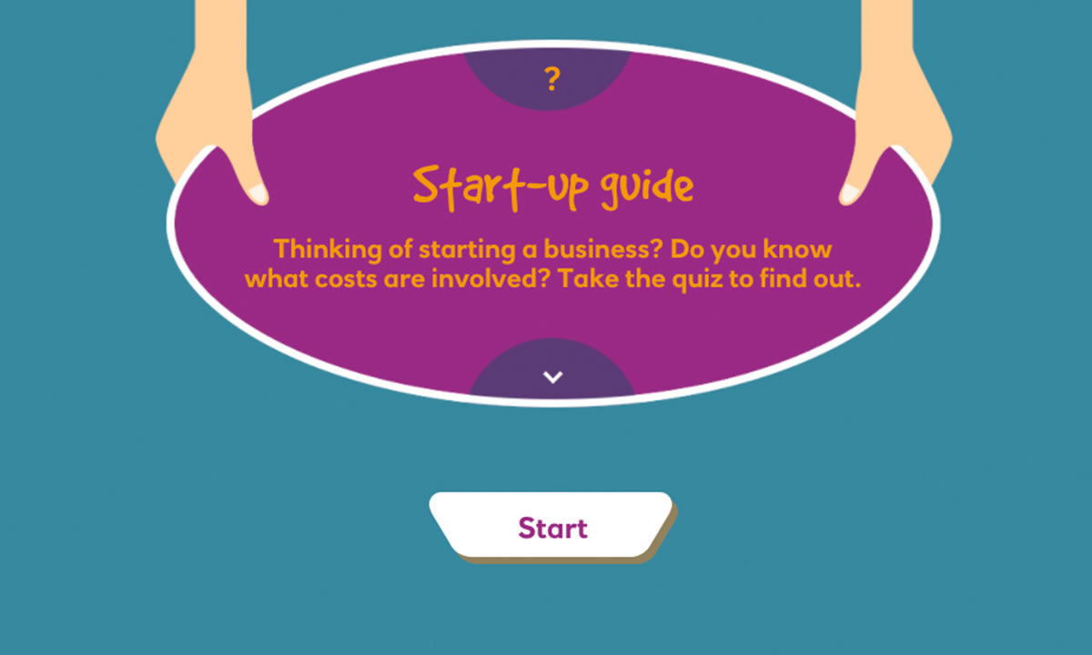Interactive resource for Enterprise: Starting a business