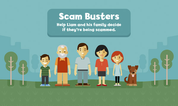 Scam Busters interactive