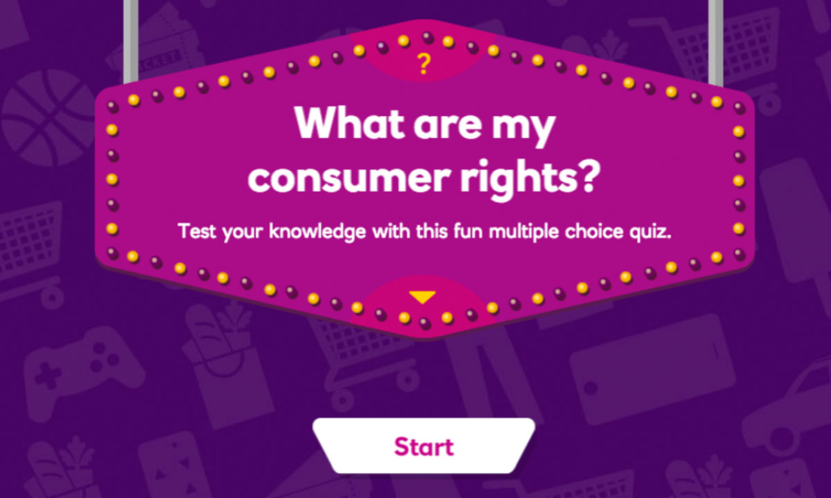 Interactive activity for What are my consumer rights?