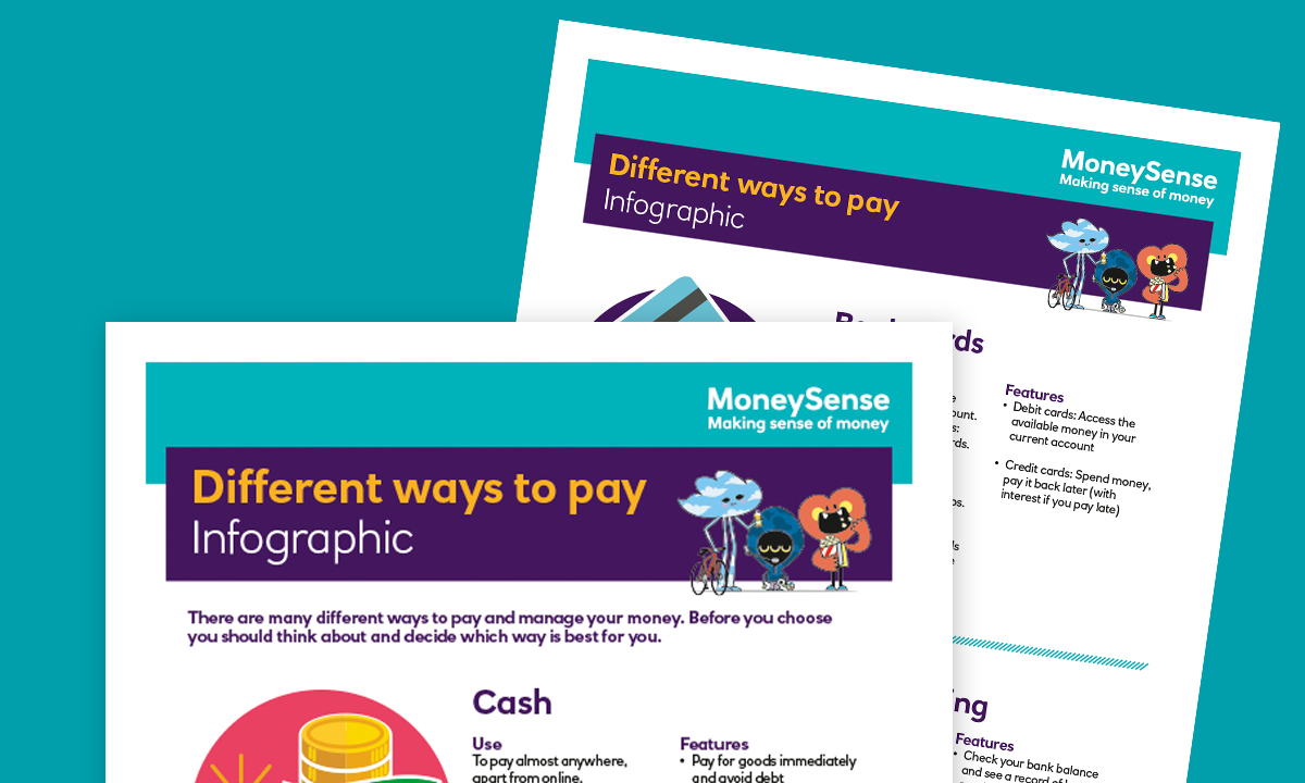 Infographic for How can I pay for things?