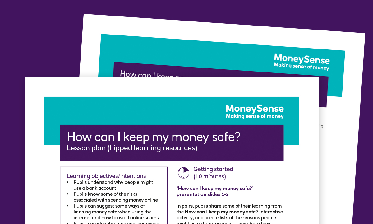 Lesson plan for How can I keep my money safe?