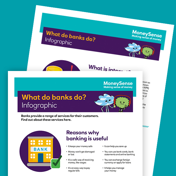 What do banks do? infographic
