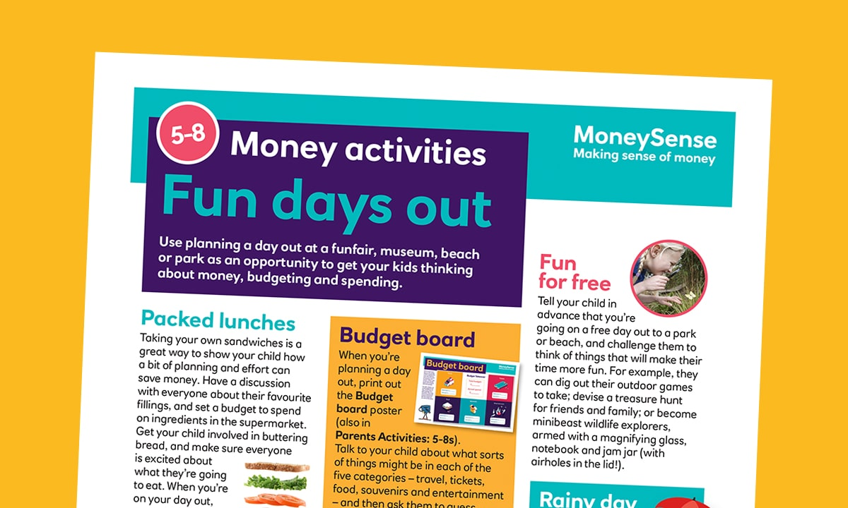 Money activities: Fun days out