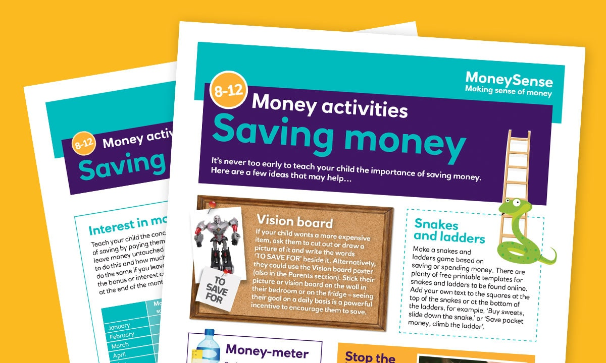 Money activities: Saving money