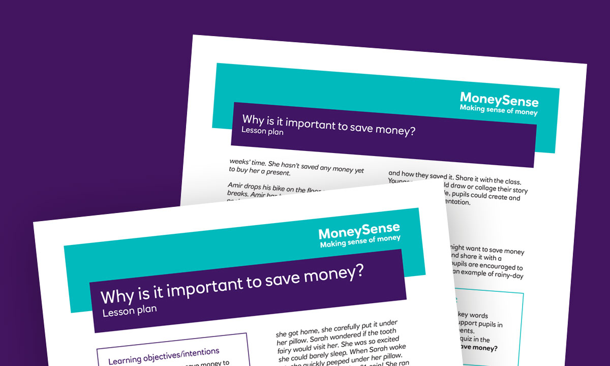 Lesson plan for Why is it important to save money?