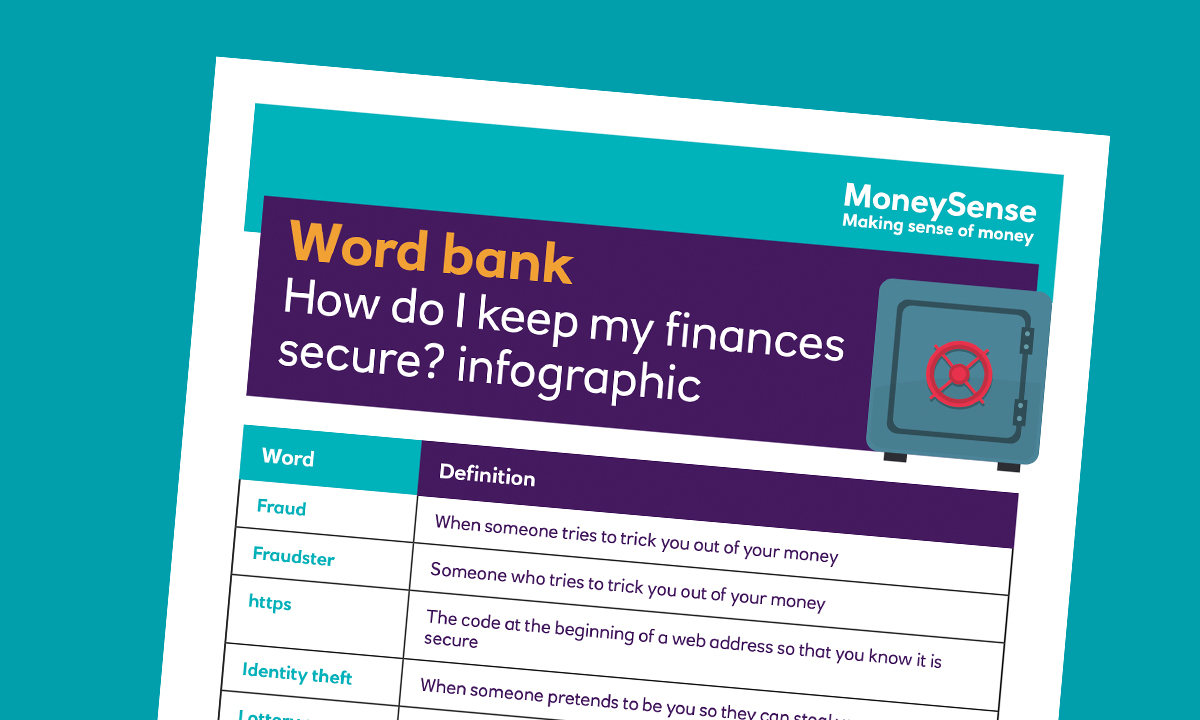 SEND Infographic for How do I keep my finances secure?