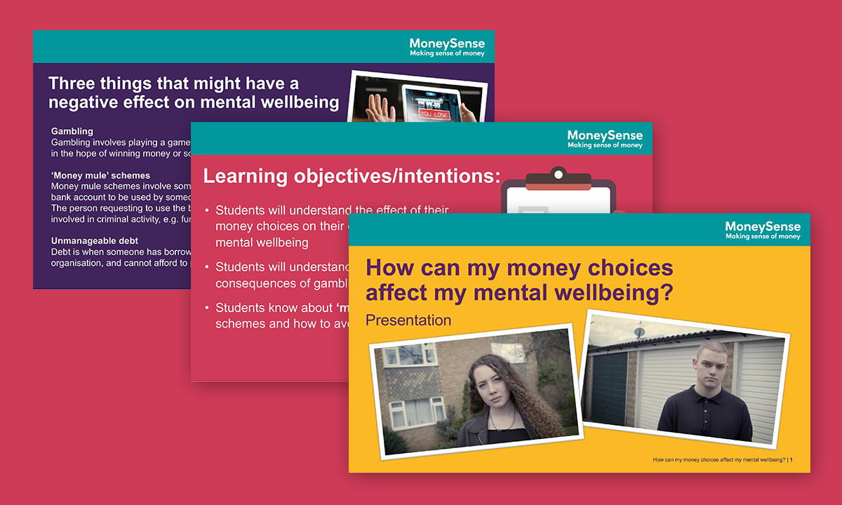 Presentation for How can my money choices affect my mental wellbeing?