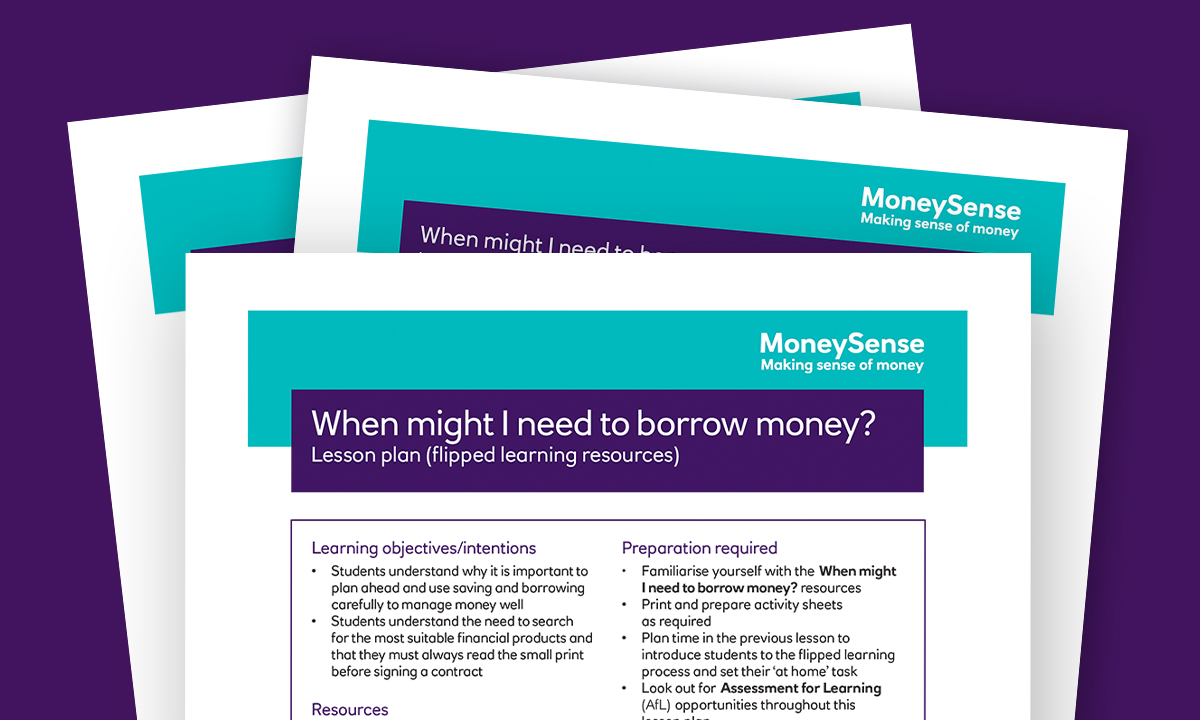 Lesson plan for When might I need to borrow money?