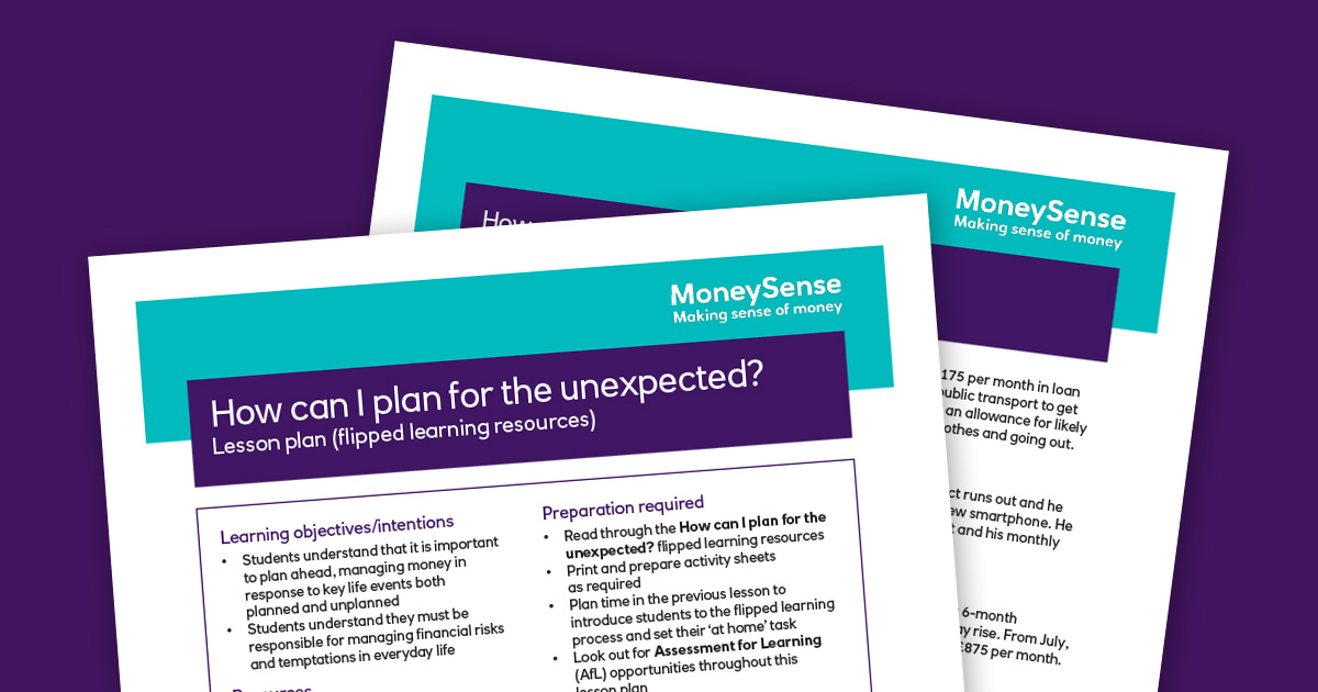 Lesson plan: How can I plan for the unexpected? | Teachers