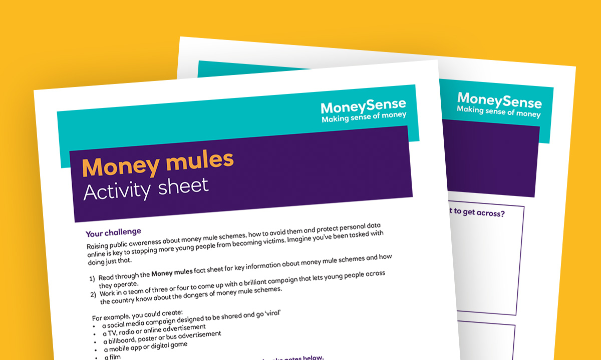 Money mules activity sheet