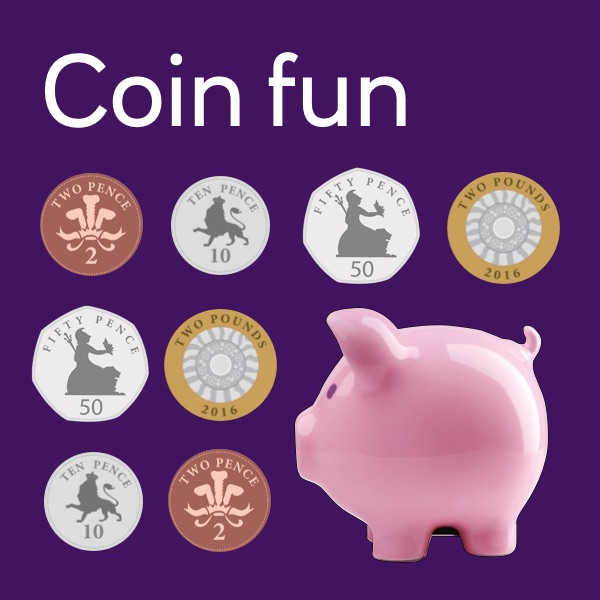 Coin fun activity sheet