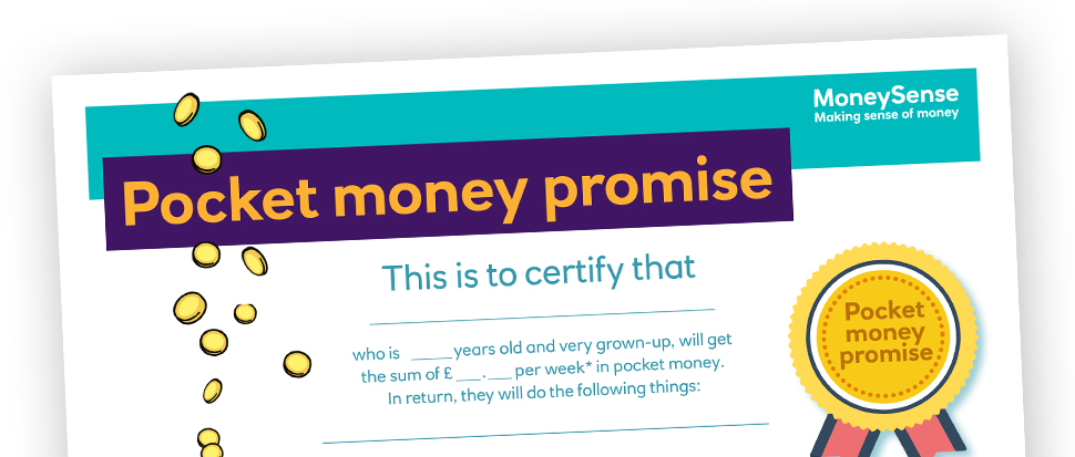 Pocket money promise poster