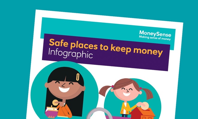 Infographic for Safe places to keep money