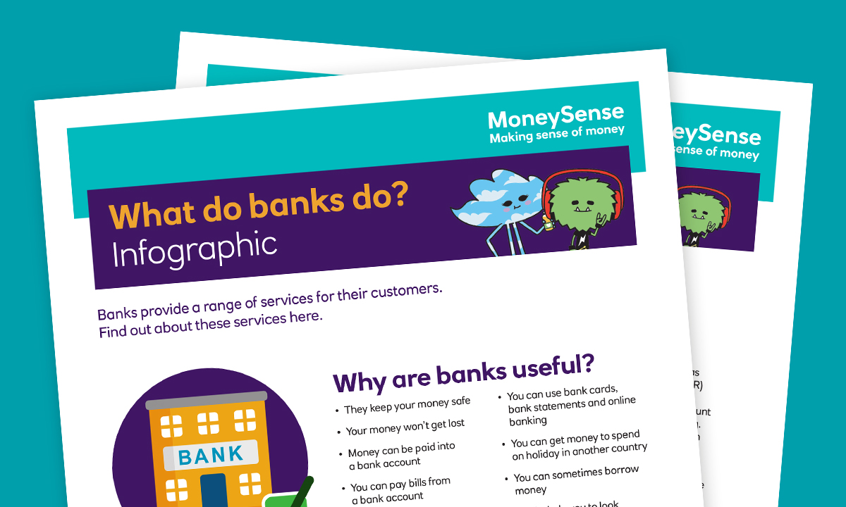 SEND infographic for How can I use a bank account?
