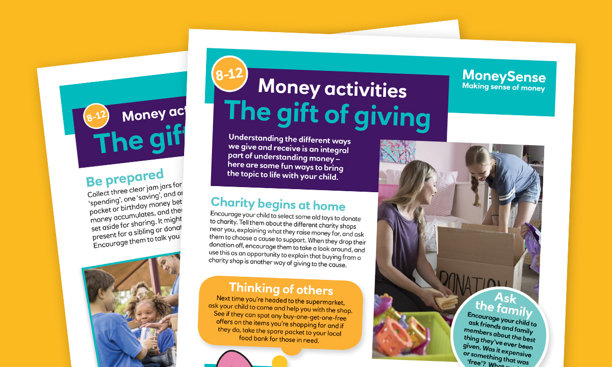 The gift of giving activity sheet