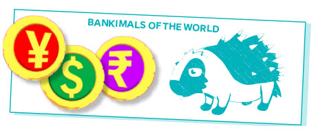 Bankimals of the world token from Island Saver