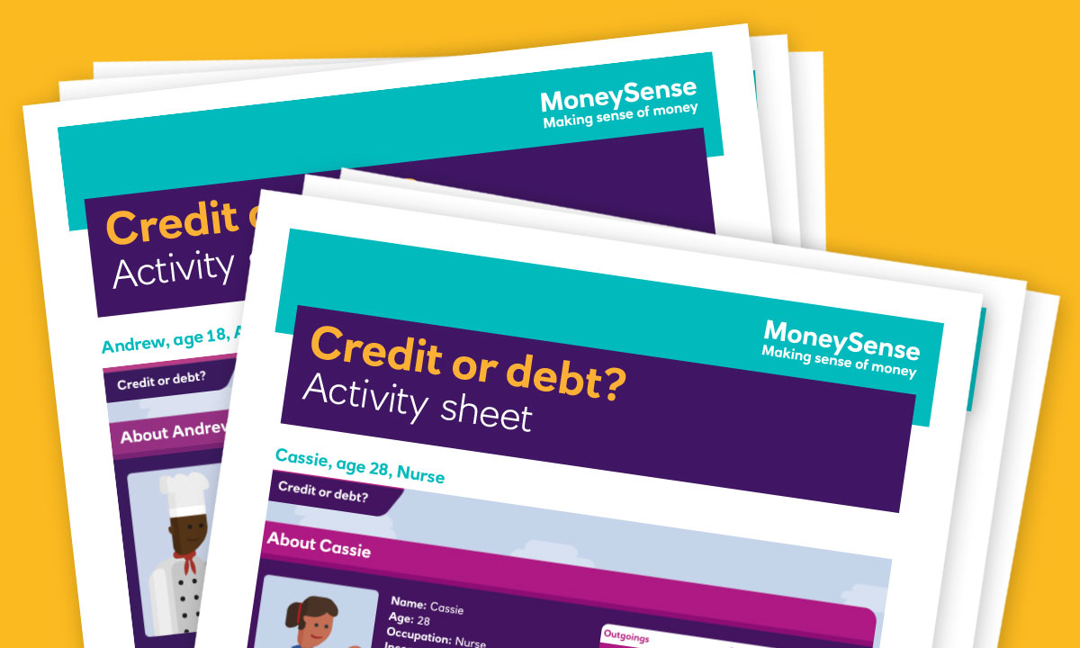 Activity sheet for How can I understand credit and debt?